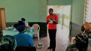 HERO Cameroon Celebrates World Diabetes Day 2017, Dr. Njang Emmanuel giving a talk 2