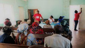 HERO Cameroon Celebrates World Diabetes Day 2017, Dr. Njang-Emmanuel giving a talk