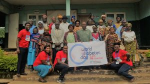 HERO Cameroon Celebrates World Diabetes Day 2017, Group-Picture with Participants