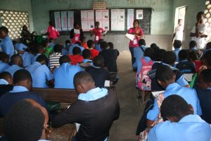 Menstrual Hygiene Day 2017 in Cameroon, Talk with Students